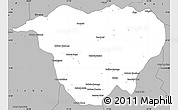 Gray Simple Map of Mweka