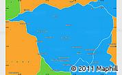 Political Simple Map of Mweka