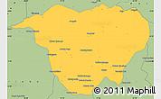 Savanna Style Simple Map of Mweka