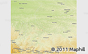 Physical Panoramic Map of Kasai