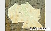 Physical Map of Thikapa, darken