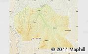 Physical Map of Thikapa, lighten