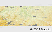 Physical Panoramic Map of Thikapa