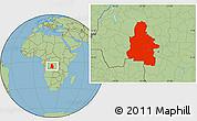 Savanna Style Location Map of Kasai-Occidental