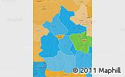 Political Shades 3D Map of Lulua
