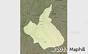 Physical Map of Demba, darken