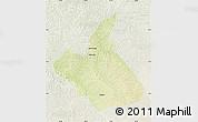 Physical Map of Demba, lighten