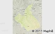Physical Map of Demba, semi-desaturated