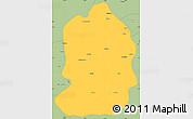 Savanna Style Simple Map of Kazumba