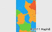 Political Simple Map of Lulua