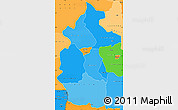 Political Shades Simple Map of Lulua