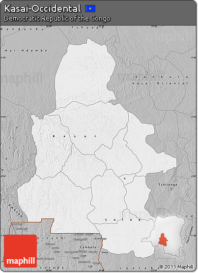 Gray Map of Kasai-Occidental