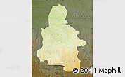 Physical Map of Kasai-Occidental, darken
