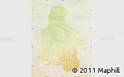 Physical Map of Kasai-Occidental, lighten