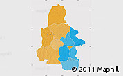 Political Map of Kasai-Occidental, cropped outside