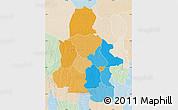 Political Map of Kasai-Occidental, lighten