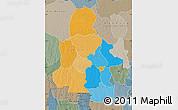 Political Map of Kasai-Occidental, semi-desaturated