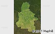Satellite Map of Kasai-Occidental, darken