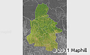 Satellite Map of Kasai-Occidental, desaturated
