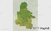 Satellite Map of Kasai-Occidental, lighten