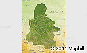 Satellite Map of Kasai-Occidental, physical outside