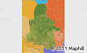 Satellite Map of Kasai-Occidental, political shades outside