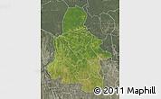 Satellite Map of Kasai-Occidental, semi-desaturated