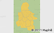 Savanna Style Map of Kasai-Occidental, single color outside