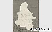 Shaded Relief Map of Kasai-Occidental, darken