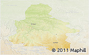 Physical Panoramic Map of Kasai-Occidental, lighten