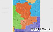 Political Shades 3D Map of Kasai-Oriental