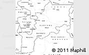 Blank Simple Map of Kabinda