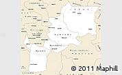 Classic Style Simple Map of Kabinda