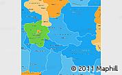 Political Shades Simple Map of Kabinda