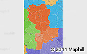 Political Shades Map of Kasai-Oriental