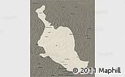 Shaded Relief 3D Map of Kole, darken