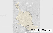 Shaded Relief 3D Map of Kole, desaturated