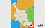 Shaded Relief 3D Map of Kole, political outside