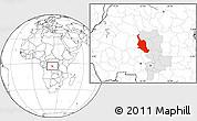 Blank Location Map of Kole, highlighted grandparent region
