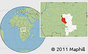 Savanna Style Location Map of Kole, highlighted grandparent region