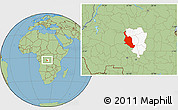 Savanna Style Location Map of Kole, highlighted parent region