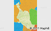 Physical Map of Kole, political outside