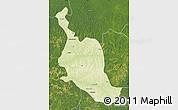 Physical Map of Kole, satellite outside