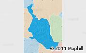 Political Map of Kole, lighten