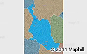 Political Map of Kole, semi-desaturated