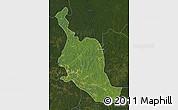 Satellite Map of Kole, darken