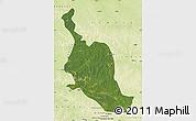 Satellite Map of Kole, physical outside