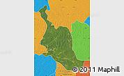 Satellite Map of Kole, political outside
