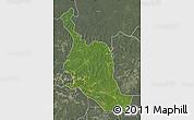 Satellite Map of Kole, semi-desaturated