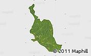 Satellite Map of Kole, single color outside